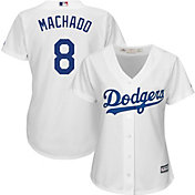 Majestic Women's Replica Los Angeles Dodgers Manny Machado #8 Cool Base Home White Jersey