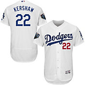 Majestic Men's 2018 World Series Authentic Los Angeles Dodgers Clayton Kershaw Flex Base Home White On-Field Jersey