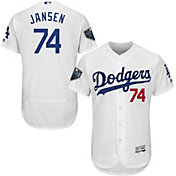 Majestic Men's 2018 World Series Authentic Los Angeles Dodgers Kenley Jansen Flex Base Home White On-Field Jersey