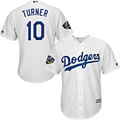 Majestic Men's 2018 World Series Replica Los Angeles Dodgers Justin Turner Cool Base Home White Jersey