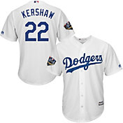 Majestic Men's 2018 World Series Replica Los Angeles Dodgers Clayton Kershaw Cool Base Home White Jersey