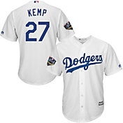 Majestic Men's 2018 World Series Replica Los Angeles Dodgers Matt Kemp Cool Base Home White Jersey