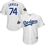 Majestic Men's 2018 World Series Replica Los Angeles Dodgers Kenley Jansen Cool Base Home White Jersey