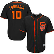 Majestic Men's Replica San Francisco Giants Evan Longoria #10 Cool Base Alternate Black Jersey