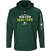 Majestic Men's Oakland Athletics 2018 MLB Postseason Green On-Field Therma Base Hoodie