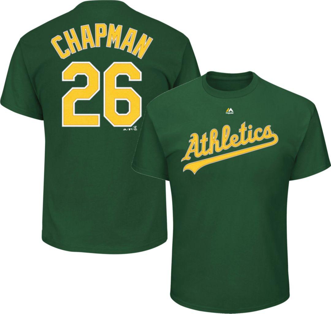 huge discount 9f332 97ad7 Majestic Men's Oakland Athletics Matt Chapman #26 Green T-Shirt
