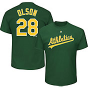 Majestic Men's Oakland Athletics Matt Olson #28 Green T-Shirt
