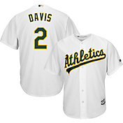 Majestic Men's Replica Oakland Athletics Khris Davis #2 Cool Base Home White Jersey