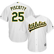 Majestic Men's Replica Oakland Athletics Stephen Piscotty #25 Cool Base Home White Jersey