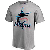 Majestic Men's Miami Marlins Grey T-Shirt