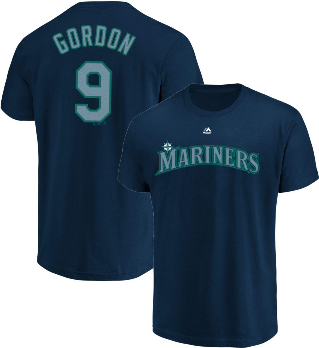 online store d38e5 6dfa9 Majestic Men's Seattle Mariners Dee Gordon #9 Navy T-Shirt