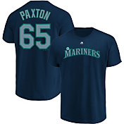 Majestic Men's Seattle Mariners James Paxton #65 Navy T-Shirt