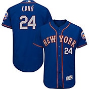 Majestic Men's Authentic New York Mets Robinson Cano #24 Flex Base Alternate Road Royal On-Field Jersey