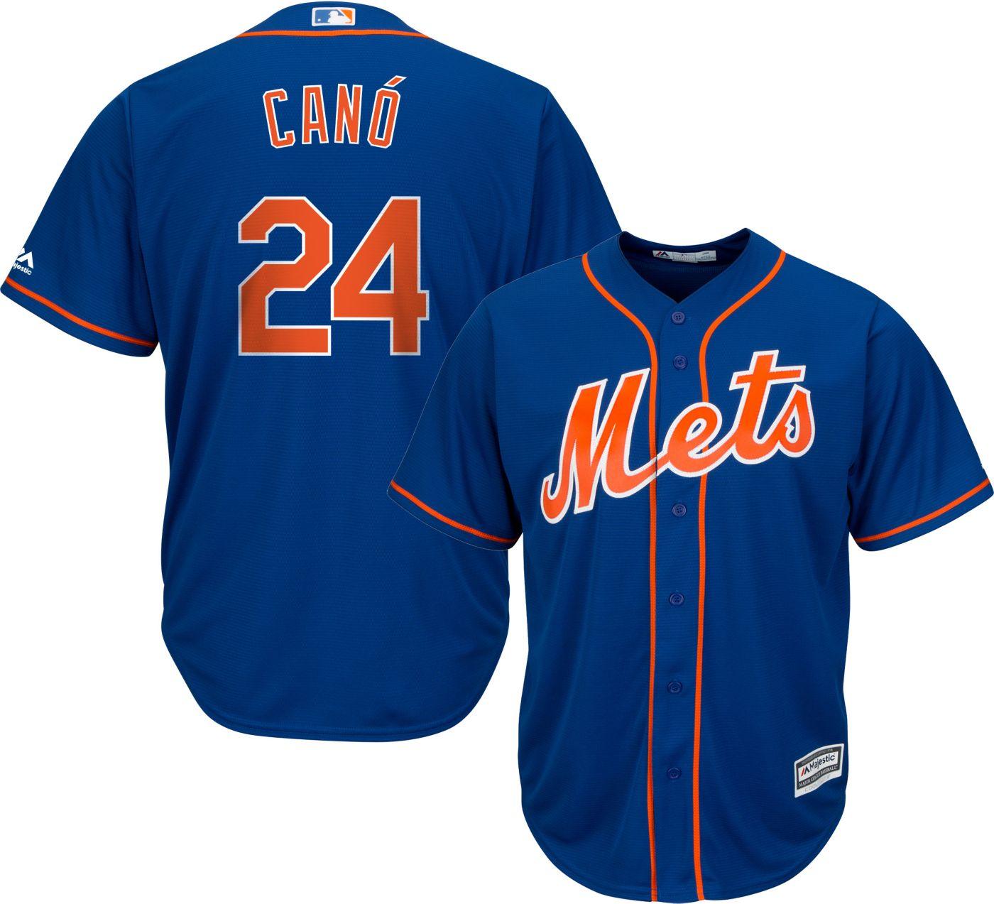 Majestic Men's Replica New York Mets Robinson Cano #24 Cool Base Alternate Royal Jersey