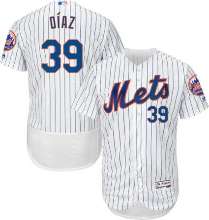 67204ba96 Majestic Men s Authentic New York Mets Edwin Diaz  39 Flex Base Home White  On-Field Jersey