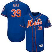 Majestic Men's Authentic New York Mets Edwin Diaz #39 Flex Base Alternate Royal On-Field Jersey