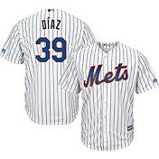 Majestic Men's Replica New York Mets Edwin Diaz #39 Cool Base Home White Jersey