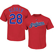 Majestic Men's Cleveland Indians Corey Kluber #28 Red T-Shirt
