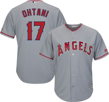 42afa20dd Majestic Men s Replica Los Angeles Angels Shohei Ohtani  17 Cool Base Road  Grey Jersey