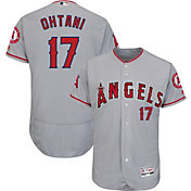 Majestic Men's Authentic Los Angeles Angels Shohei Ohtani #17 Flex Base Road Grey On-Field Jersey