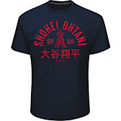 Majestic Men's Los Angeles Angels Shohei Ohtani Heritage Navy T-Shirt