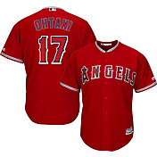 Majestic Men's Replica Los Angeles Angels Shohei Ohtani #17 Cool Base Alternate Red Jersey