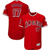 Majestic Men's Authentic Los Angeles Angels Shohei Ohtani #17 Flex Base Alternate Red On-Field Jersey