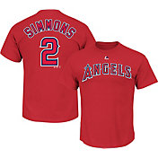 Majestic Men's Los Angeles Angels Andrelton Simmons #2 Red T-Shirt