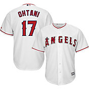 Majestic Men's Replica Los Angeles Angels Shohei Ohtani #17 Cool Base Home White Jersey