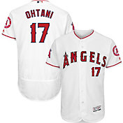 Majestic Men's Authentic Los Angeles Angels Shohei Ohtani #17 Flex Base Home White On-Field Jersey