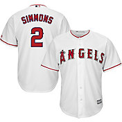 Majestic Men's Replica Los Angeles Angels Andrelton Simmons #2 Cool Base Home White Jersey