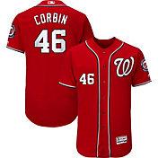 Majestic Men's Authentic Washington Nationals Patrick Corbin #46 Flex Base Alternate Red On-Field Jersey