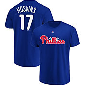 Majestic Men's Philadelphia Phillies Rhys Hoskins #17 Royal T-Shirt