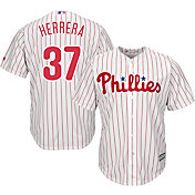 Majestic Men's Replica Philadelphia Phillies Odubel Herrera #37 Cool Base Home White Jersey