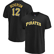 Majestic Men's Pittsburgh Pirates Corey Dickerson #12 Black T-Shirt
