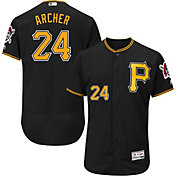 Majestic Men's Authentic Pittsburgh Pirates Chris Archer #24 Flex Base Alternate Black On-Field Jersey