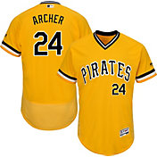 Majestic Men's Authentic Pittsburgh Pirates Chris Archer #24 Flex Base Alternate Gold On-Field Jersey
