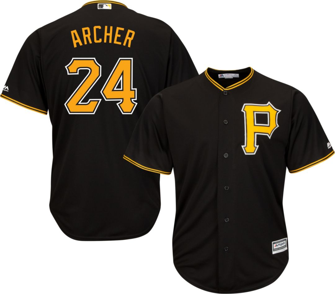 more photos 64a06 7efed Majestic Men's Replica Pittsburgh Pirates Chris Archer #24 Cool Base  Alternate Black Jersey