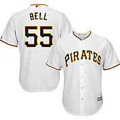 0884b22743f Product Image · Majestic Men s Replica Pittsburgh Pirates Josh Bell  55 Cool  Base Home White Jersey