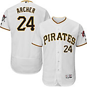 Majestic Men's Authentic Pittsburgh Pirates Chris Archer #24 Flex Base Home White On-Field Jersey
