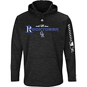 Majestic Men's Colorado Rockies 2018 MLB Postseason Black On-Field Therma Base Hoodie