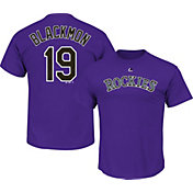 Majestic Men's Colorado Rockies Charlie Blackmon #19 Purple T-Shirt