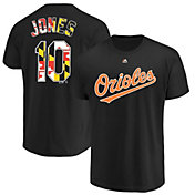 Majestic Men's Baltimore Orioles Adam Jones #10 Black T-Shirt