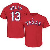 Majestic Men's Texas Rangers Joey Gallo #13 Red T-Shirt