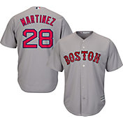 5468edfb Majestic Men's Replica Boston Red Sox J.D. Martinez #28 Cool Base Road Grey  Jersey