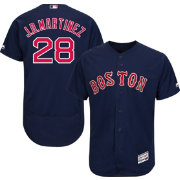 Majestic Men's Authentic Boston Red Sox J.D. Martinez #28 Flex Base Alternate Navy On-Field Jersey
