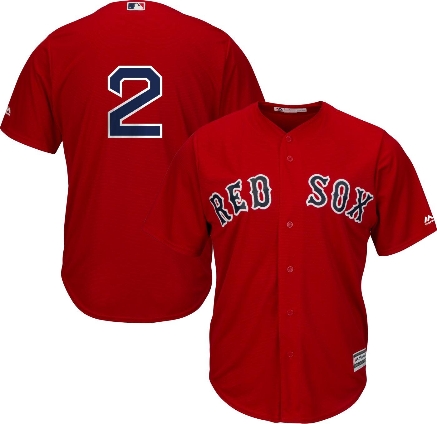 Majestic Men's Replica Boston Red Sox Xander Bogaerts #2 Cool Base Alternate Red Jersey