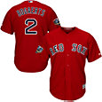 Majestic Men's 2018 World Series Replica Boston Red Sox Xander Bogaerts Cool Base Alternate Red Jersey