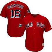 Majestic Men's 2018 World Series Replica Boston Red Sox Andrew Benintendi Cool Base Alternate Red Jersey
