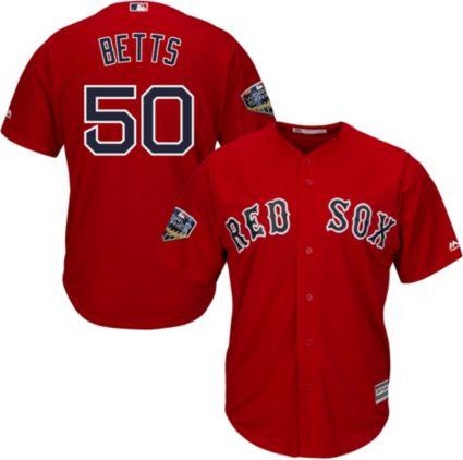 Majestic Men s 2018 World Series Replica Boston Red Sox Mookie Betts ... 555e6aab306